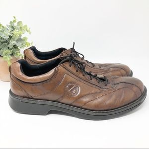 Ecco Shock Point Brown Leather Lace Up Oxford